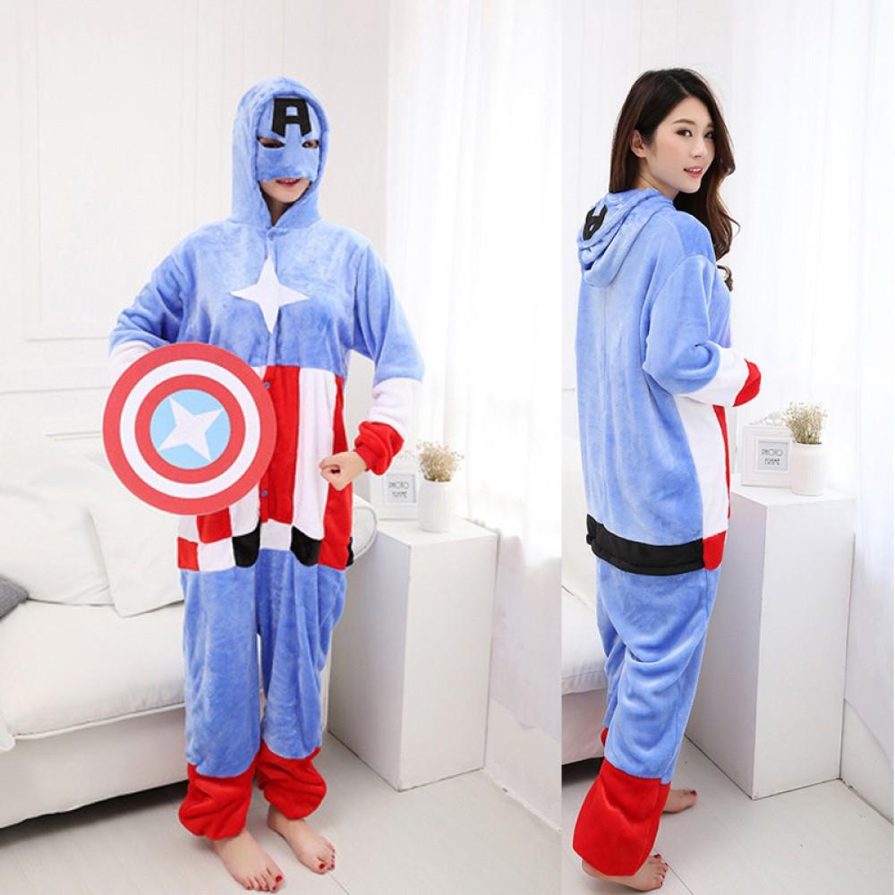 Captain America Adult Onesie