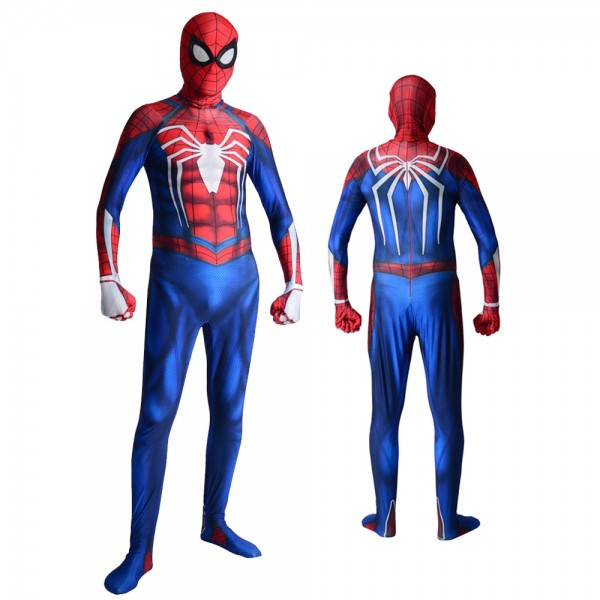 Ps4 Advanced Spider Man Suit Spiderman Cosplay Costumes Spandex Zentai for Adult