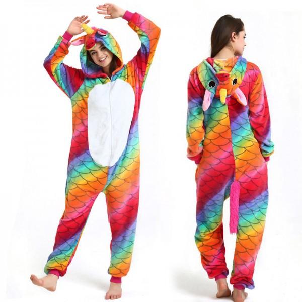 Scale Unicorn Adult Animal Onesie Pajamas Costume
