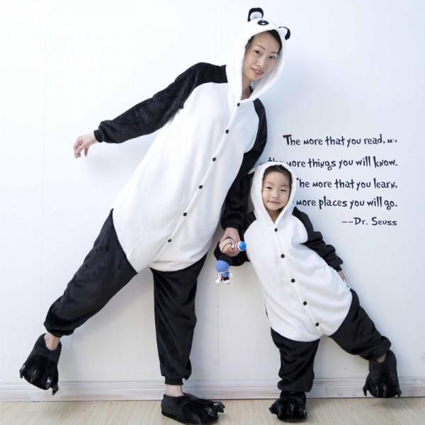 Happy Panda Adult & Kids Animal Onesie Pajamas Costume