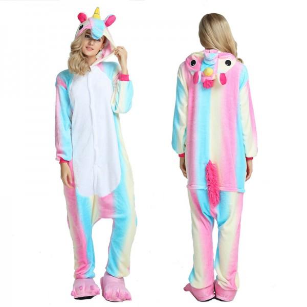 Colorful Unicorn Adult Animal Onesie Pajamas Costume