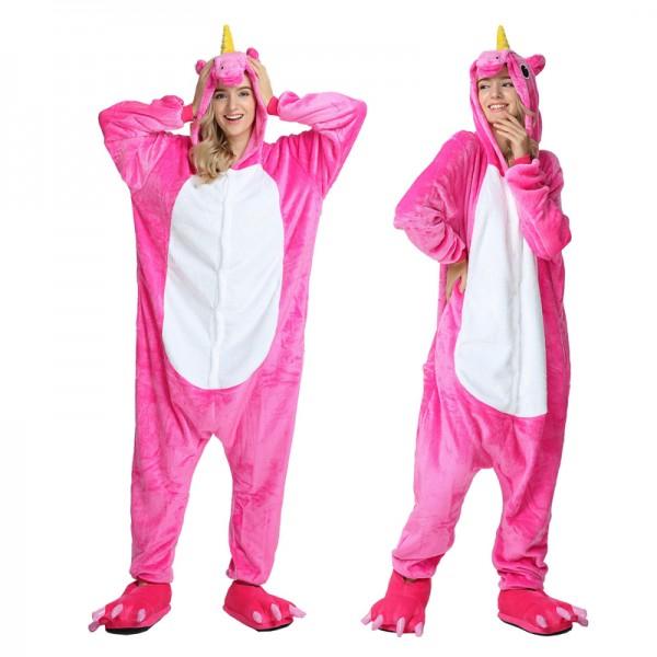 Rose Unicorn Adult Animal Onesie Pajamas Costume