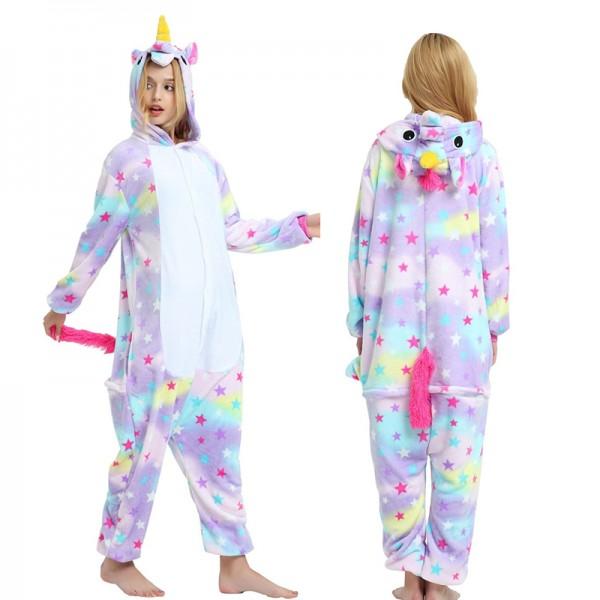 Star Unicorn Womens & Mens Animal Onesie Pajamas Costume