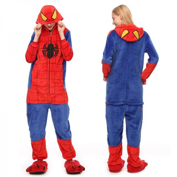 Spiderman Womens & Mens Animal Onesie Pajamas Costume