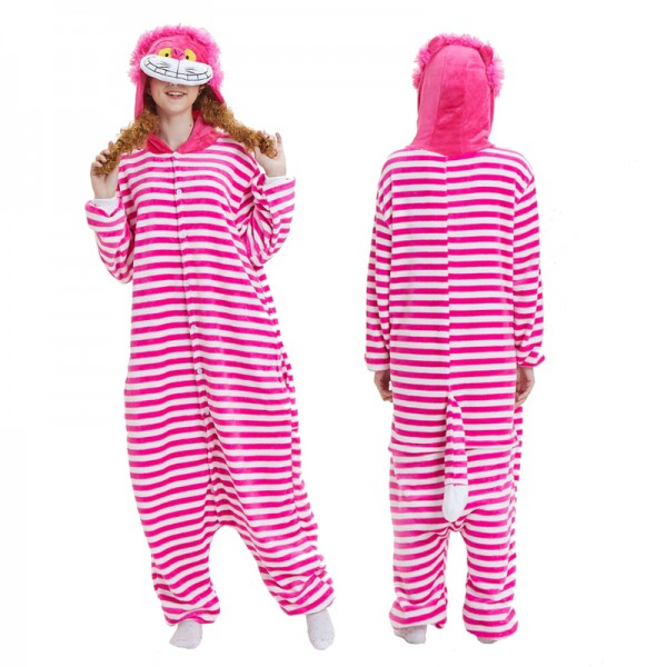 Cheshire Cat Adult Animal Onesie Pajamas Costume