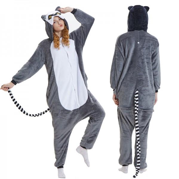 Lemur Adult Animal Onesie Pajamas Costume