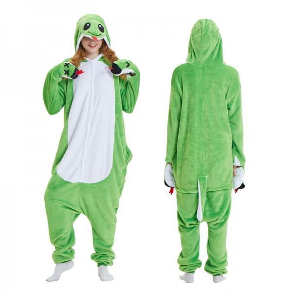 Snake Womens & Mens Animal Onesie Pajamas Costume