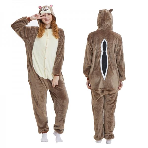 Chipmunk Adult Animal Onesie Pajamas Costume