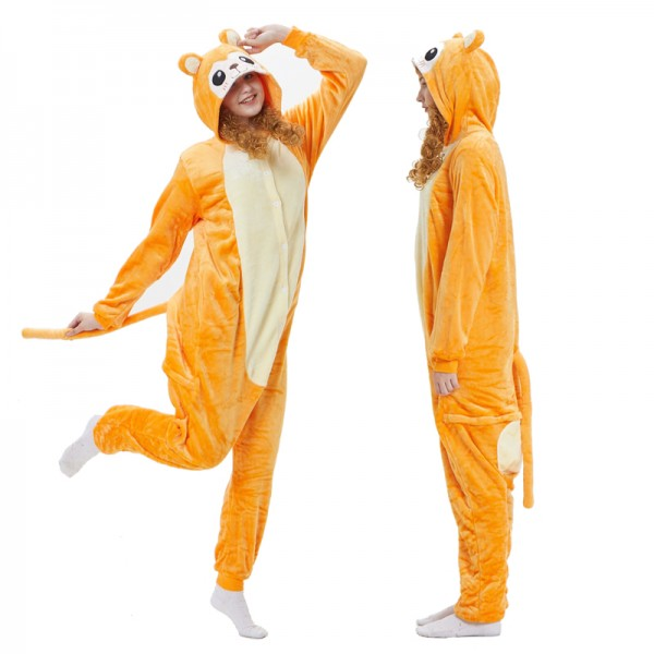 Golden Monkey Adult Animal Onesie Pajamas Costume