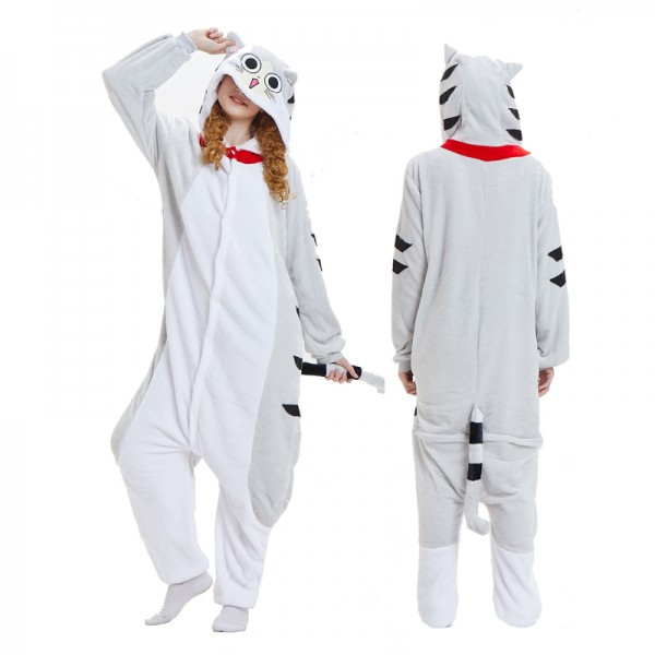 Cheese Cat Adult Animal Onesie Pajamas Costume