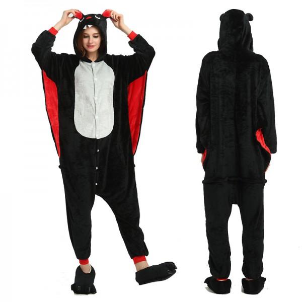 Bat Womens & Mens Animal Onesie Pajamas Costume