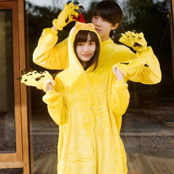 Yellow Chicken Adult Animal Onesie Pajamas Costume
