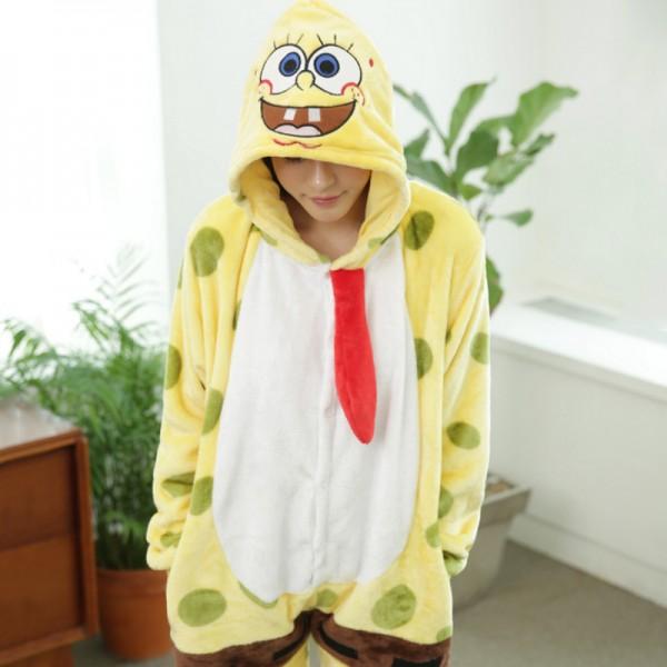 SpongeBob Adult Animal Onesie Pajamas Costume