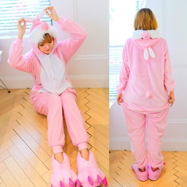 Bunny Adult Animal Onesie Pajamas Costume