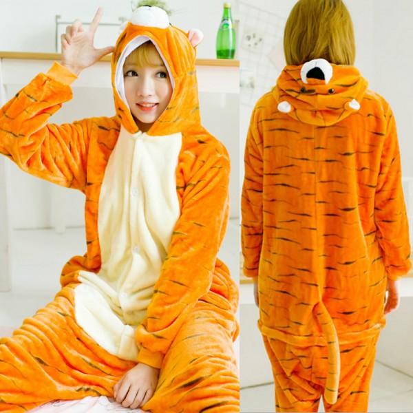 Tiger Adult Animal Onesie Pajamas Costume