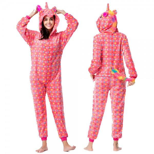 Red Star Onesie Pajamas Costumes Adult Animal Onesies Zip up