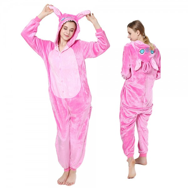 Pink Stitch Onesie Pajamas for Adult Animal Onesies Halloween Costumes