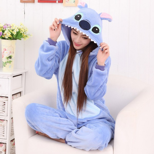Stitch Onesie Flannel Pajamas Lilo & Stitch Halloween Costumes