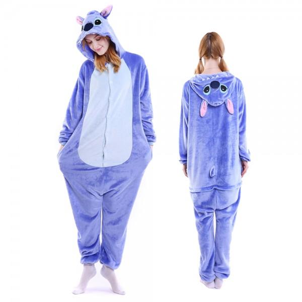 Lilo & Stitch Onesie Costumes Adult Animal Onesies Halloween Flannel Pajamas