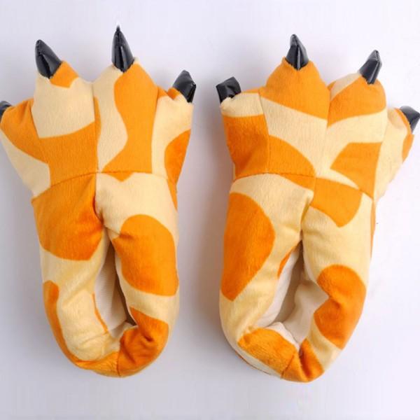 Giraffe Paw Slippers Animal Onesies Pajamas Costume Shoes