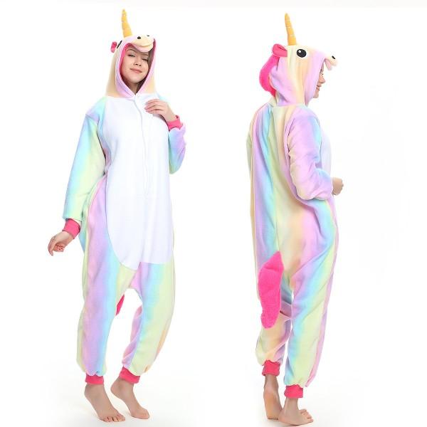 Rainbow Unicorn Onesie Pajamas Adult Animal Onesies