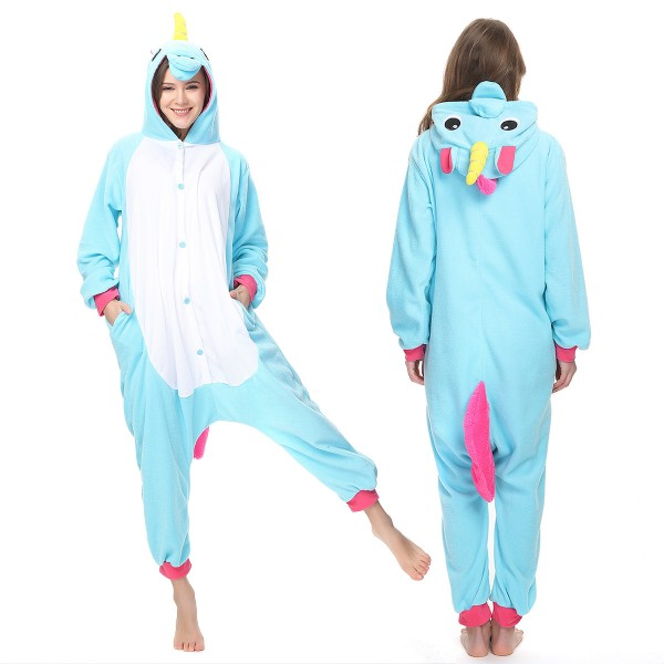 Blue Unicorn Onesie Pajamas Adult Animal Onesies