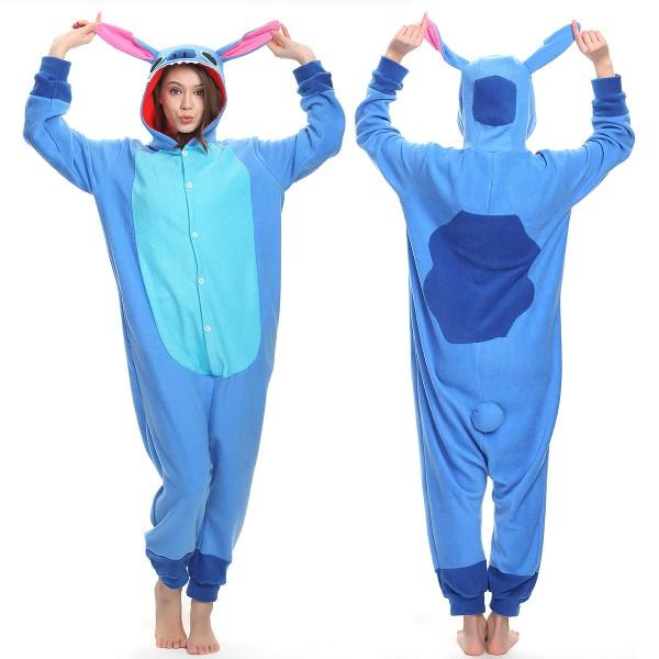 Blue Stitch Onesie Pajamas Adult Animal Onesies