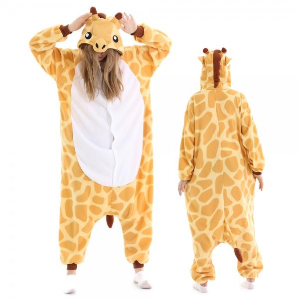 Giraffe Onesie Pajamas for Adult Animal Onesies Halloween Costumes
