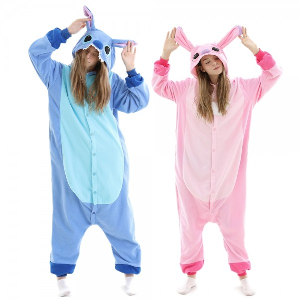 Stitch Onesie Pajamas Animal Onesies Halloween Costumes for Adult & Teens