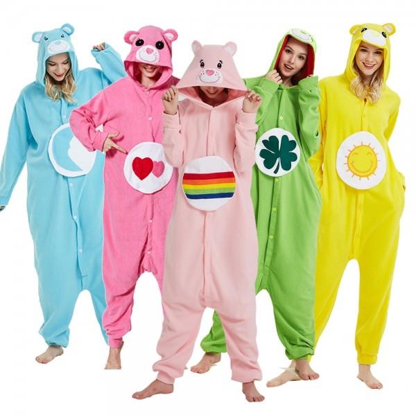 Care Bear Onesie Pajamas Adult Animal Onesies Halloween Costumes