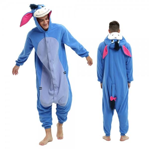 Eeyore Onesie Pajamas for Adult Animal Onesies Cosplay Halloween Costumes
