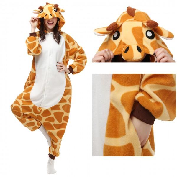 Giraffe Onesie Pajamas for Adult Animal Onesies Cosplay Halloween Costumes