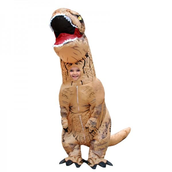 Kids Blow Up Costumes Inflatable Dinosaur T Rex Costume Halloween Suit