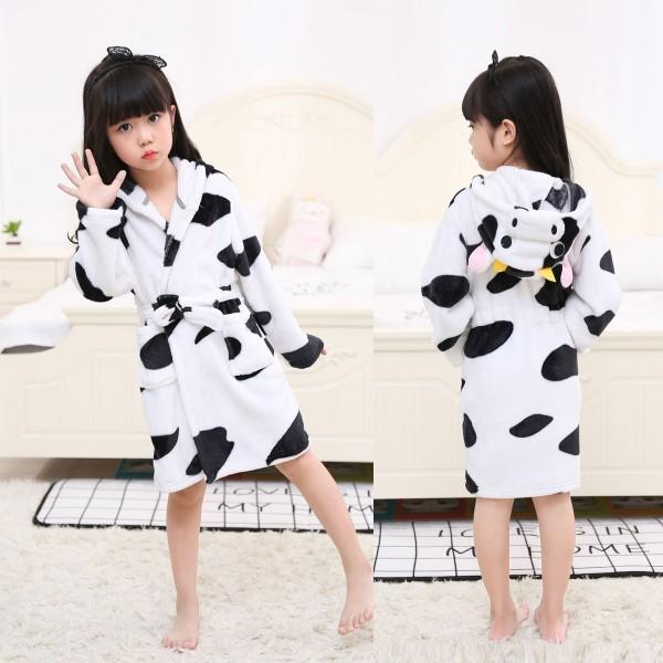 Cow Boys & Girls Animal Robes Hooded Bathrobe