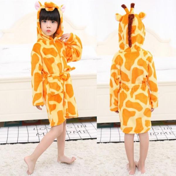 Giraffe Robe Animal Robes Hooded Bathrobe for Kids