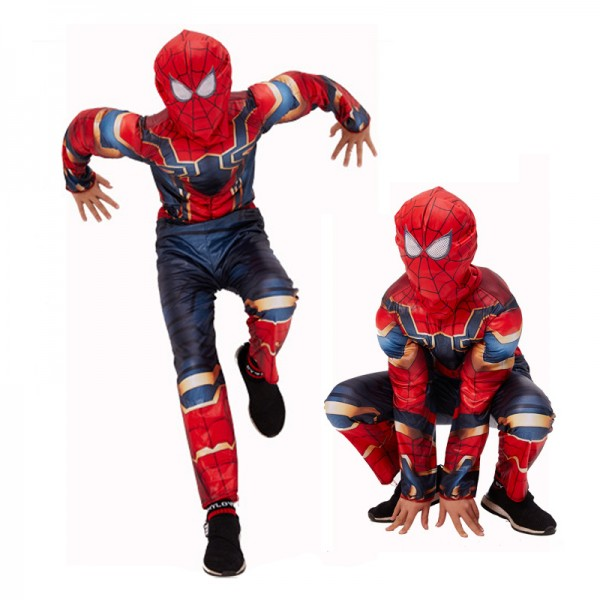 Toddler Iron Spiderman Costume Muscle Cosplay Costume