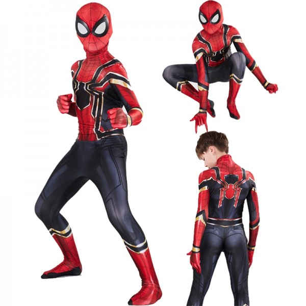 Iron Spider Man Suit Costumes Cospaly Onesie Suits for Boys Kids Toddlers