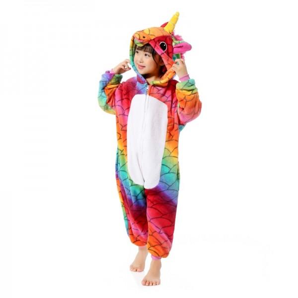 Scale Unicorn Kids Animal Onesie Pajamas Cosplay Cute Costume