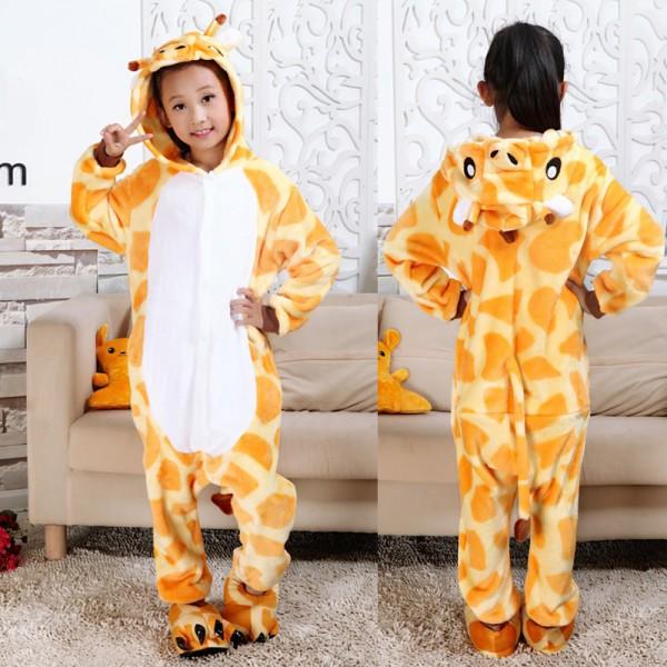 Giraffe Kids Animal Onesie Pajamas Cosplay Cute Costume