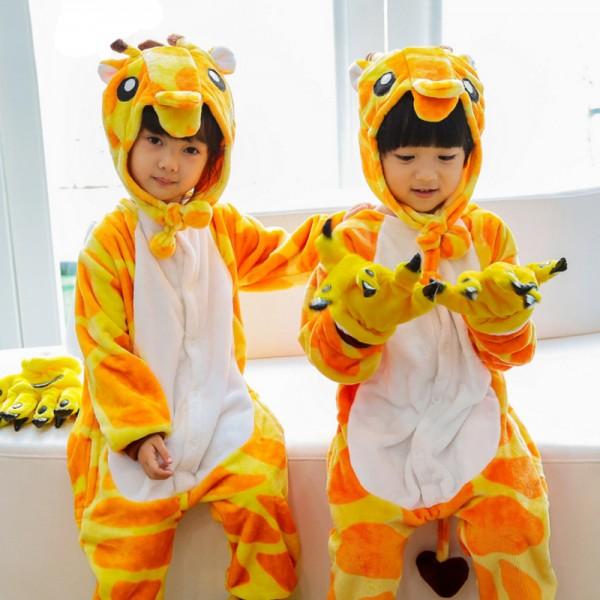Giraffe Kids Animal Onesie Pajamas Cute Costume