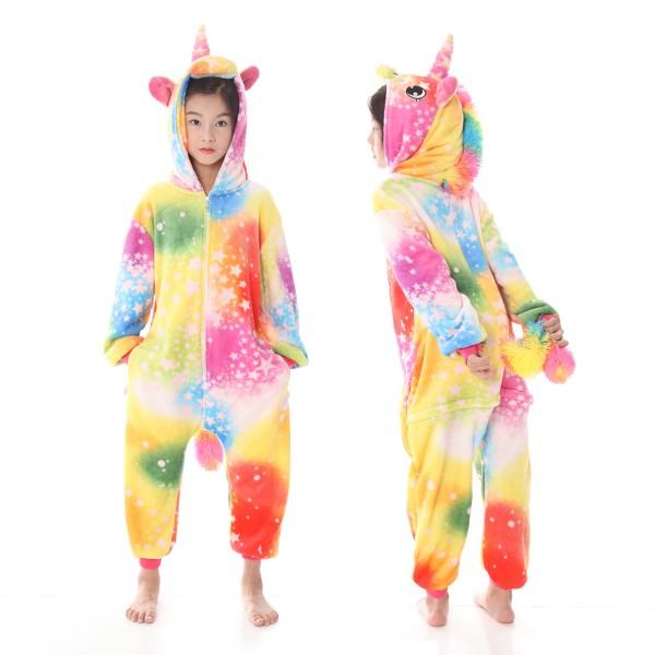 Yellow Star Unicorn Onesie Pajamas Animal Onesies for Kids