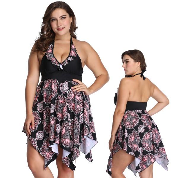 Swim 365 - Swim 365 Womens Plus Size Retro Swim Dress