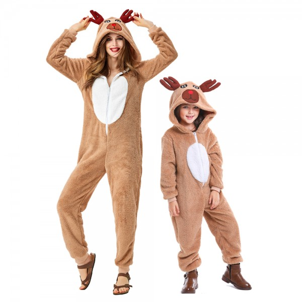 Reindeer Costume For Adult & Kids Christmas Costumes Outfit